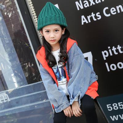 Trang phục Jean trẻ em Sibei show quần áo trẻ em 2019 thu đông 2018 phiên bản mới của Hàn Quốc cho b