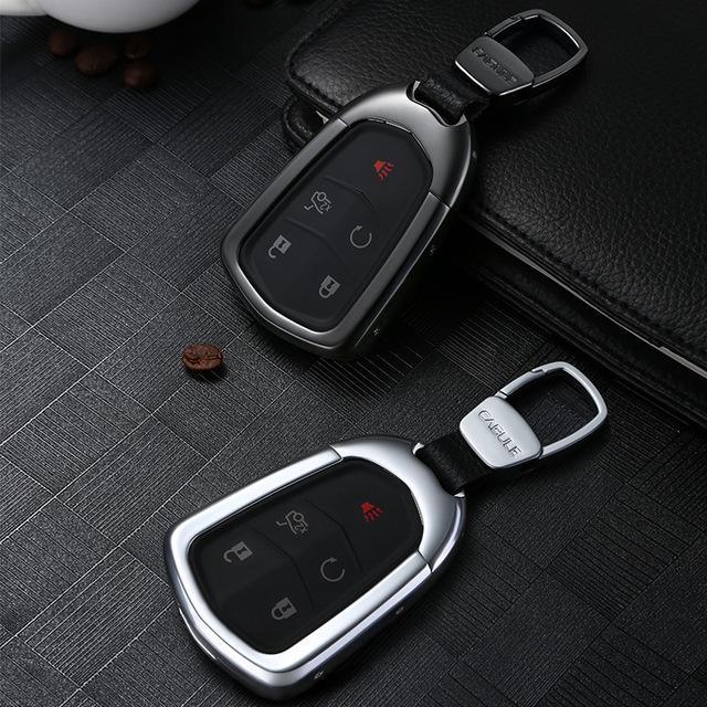 KABULUN Đồ dùng ô tô Túi kẹp tóc dành riêng cho túi đựng chìa khóa Cadillac Phụ kiện xe hơi hợp kim