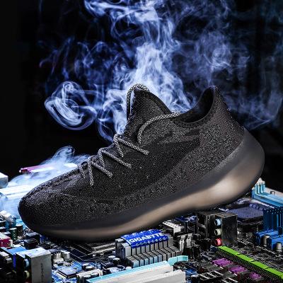 Giày FuJian 350V3 giày cây dừa nam giày phản quang ánh sáng đầy sao giày thể thao bay loaf bỏng ngô