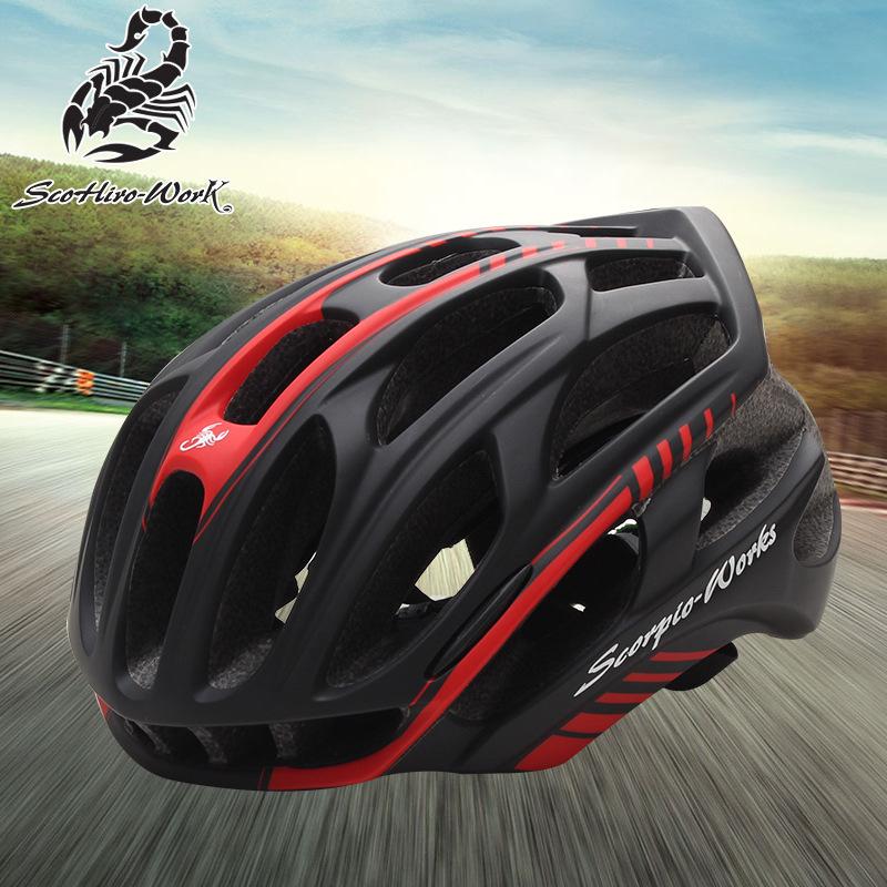 Scorpio-works Mũ bảo hiểm xe đạp Xe đạp leo núi thể thao mũ bảo hiểm nam và nữ mô hình nổ mô hình Mũ