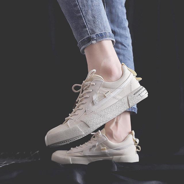Giày Sneaker / Giày trượt ván Túi tóc giúp ngỗng trở lại không hợp lệ nổ tung giày vải chung nữ 2019
