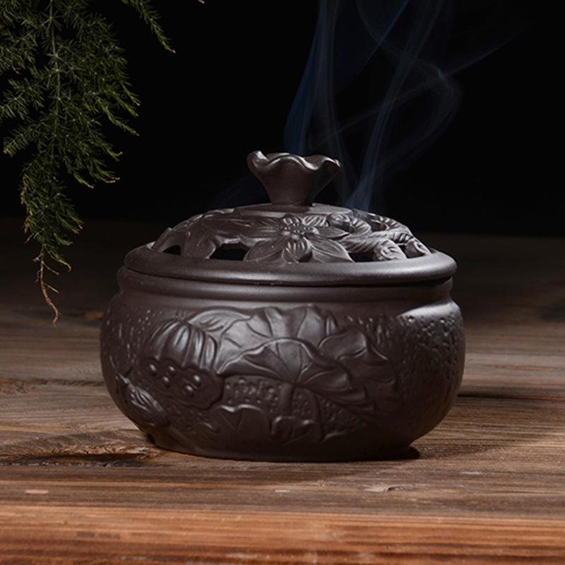 Lư hương Đốt nhang , đốt trầm hương bằng Gốm .