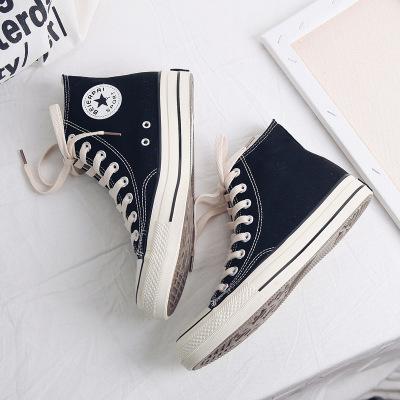 Giày Sneaker / Giày trượt ván Muir 2019 mùa thu mới giày vải nam bình thường dây màu cao giày thủy s