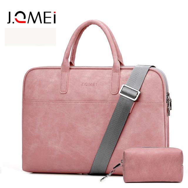 Túi đựng máy vi tính xách tay Ji Quanmei thời trang pu da 15,6 inch cho nữ