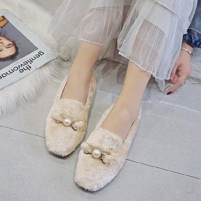 Giày Loafer / giày lười Giày lười đế xuồng đế mềm 2019 mới đế mềm đế mềm mùa đông nữ cộng với giày n