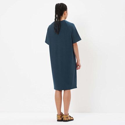 ZUCZUG Vải Visco (Rayon) An Ko Rau Men Cotton Cotton Loop Đan Dress 0181DR04