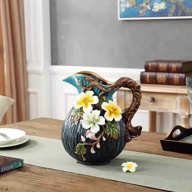 JINHUANGYA - Bình hoa bằng gốm sứ phong cách châu Âu retro