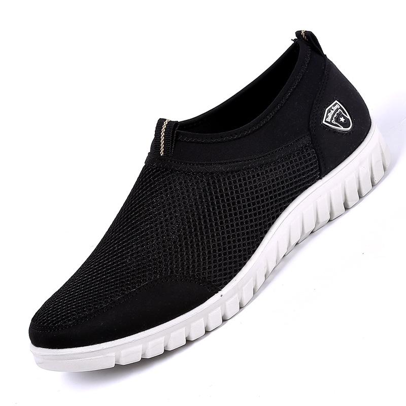 LAOBEIJING Giày lưới Mùa hè giày Bắc Kinh cũ giày nam nhẹ mềm mang giày thoải mái lưới giày nam giản