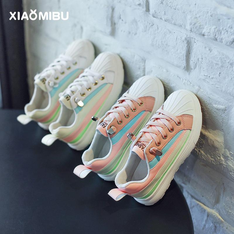 XIAOMIBU Giày trẻ em Hot Giày lưới thể thao trẻ em 2019 giày bé gái mới mùa hè và mùa thu nam vỏ sò