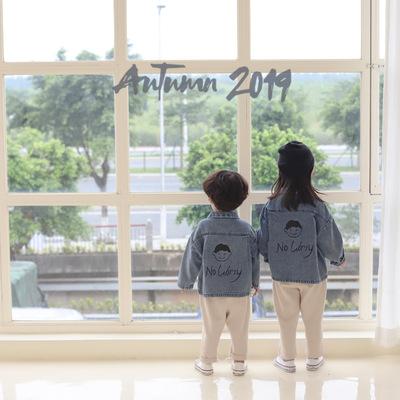 TREEBIBIT rang phục Jean trẻ em Phiên bản Hàn Quốc của thiết kế mùa thu 2019 quần áo trẻ em trai mới