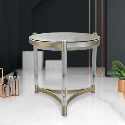 LIANGYUAN Bàn trà Ánh sáng sang trọng Phòng khách Bắc Âu bàn cà phê thủy tinh sáng tạo hiện đại nóng