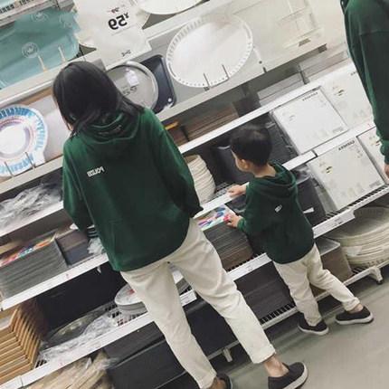 amica Áo thun gia đình Cha mẹ mặc con xuân hè 2019 áo len trùm đầu gia đình ba gia đình mẹ-con cha-c