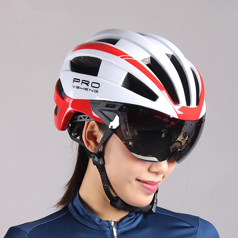 Mũ bảo hiểm xe đạp Mtp2019 cưỡi mũ bảo hiểm nam kính bảo hộ một chiếc xe đạp leo núi mũ bảo hiểm nữ