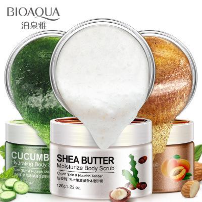 BOQUANYA Kem tẩy tế bào chết Boquan Ya Cucumber Hydrating Body Scrub Tẩy tế bào chết Lotion làm sạch