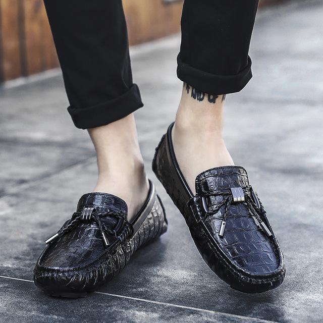 LelangWang Giày mọi Gommino Túi kẹp tóc phổ biến da nam hoang dã giày da mùa xuân và mùa hè Phiên bả