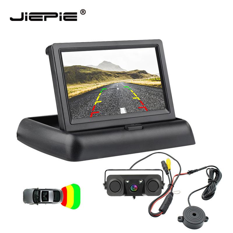 JIEPIE Radar cảm biến lùi xe Video đảo ngược hình ảnh camera radar đảo ngược 3 trong 1