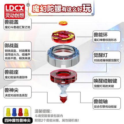 LDCX - Magic Gyro 2 đồ chơi trẻ em Bông vụ phát sáng .