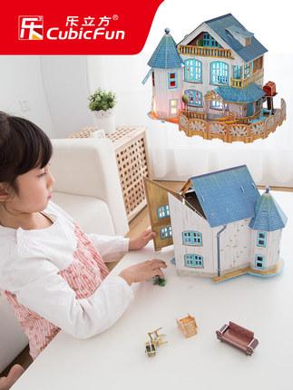 CubicFun  Tranh xếp hình 3D Le cube 3d mô hình câu đố ba chiều lắp ráp tự làm ngôi nhà trẻ em câu đố