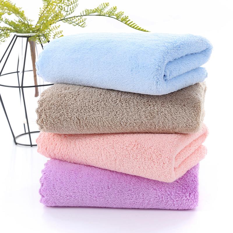 LEIWEISI Khăn lông Khăn dành cho người lớn 35 * 75 khăn nhung san hô mật độ cao dày tùy chỉnh logo q