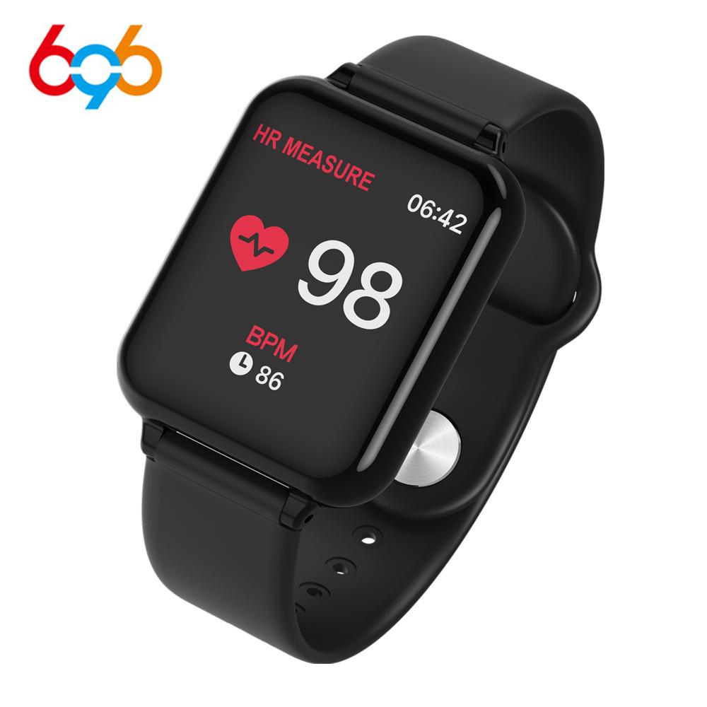 696 Vòng đeo tay thông minh B57 mới 1,3 màn hình màu nhịp tim đo huyết áp bước oxy nhắc nhở cuộc gọi