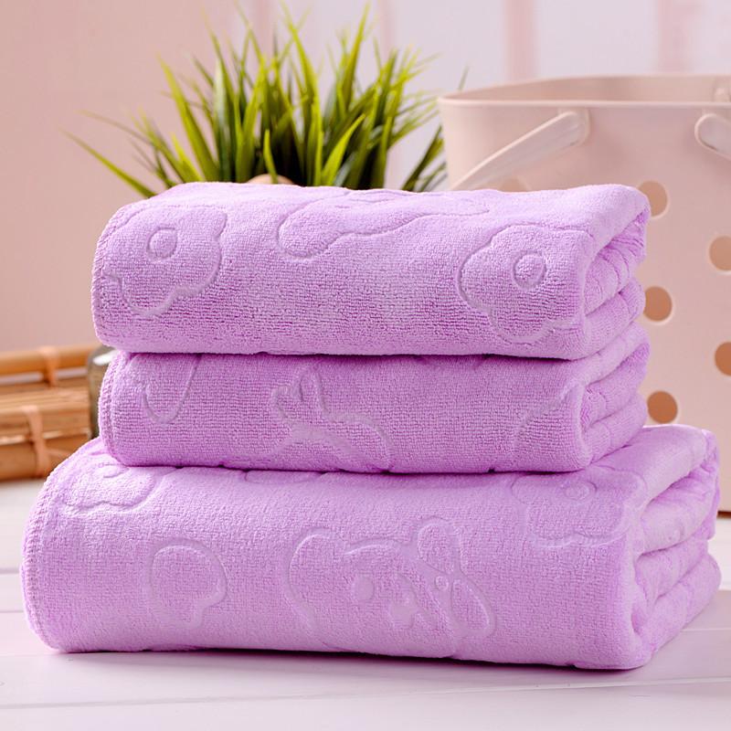 JIUJIU Khăn lông 2D [1 khăn tắm + 1 khăn] 200 g mùa hè nóng bán khăn tắm sợi nhỏ thấm nước mềm khăn