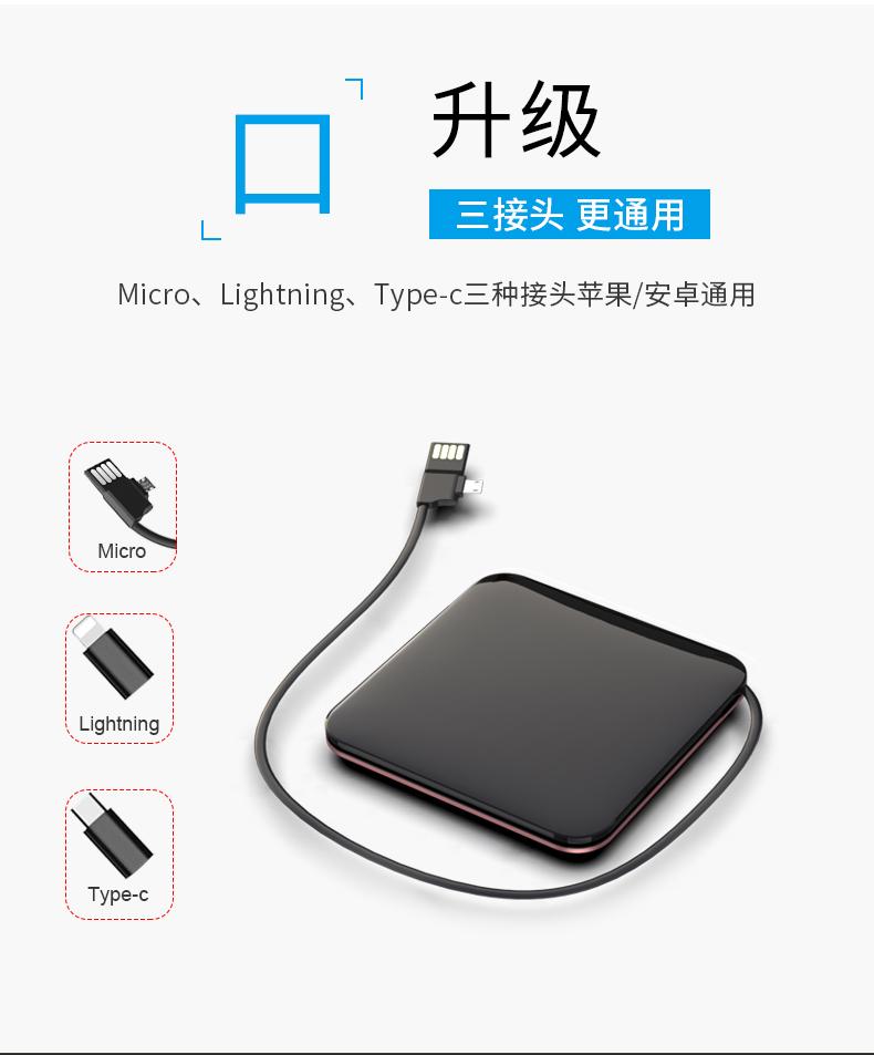 Pin sạc dự bị Bộ nạp pin 200 Ma với dòng điện riêng cực mỏng, nhỏ, xách tay và nhiều khả năng nổ Tia