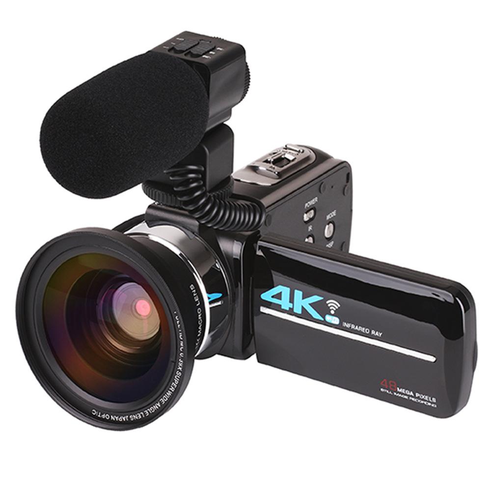 Kexrun Máy ảnh kỹ thuật số Máy quay video kỹ thuật số 48MP 4K HD mới Máy ảnh kỹ thuật số WIFI thông