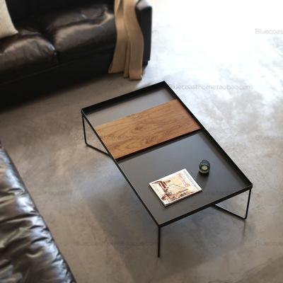 YAWANG Bàn trà Phong cách châu Âu tối giản sắt rắn bàn cà phê gỗ phòng khách sáng tạo bàn trà kim lo