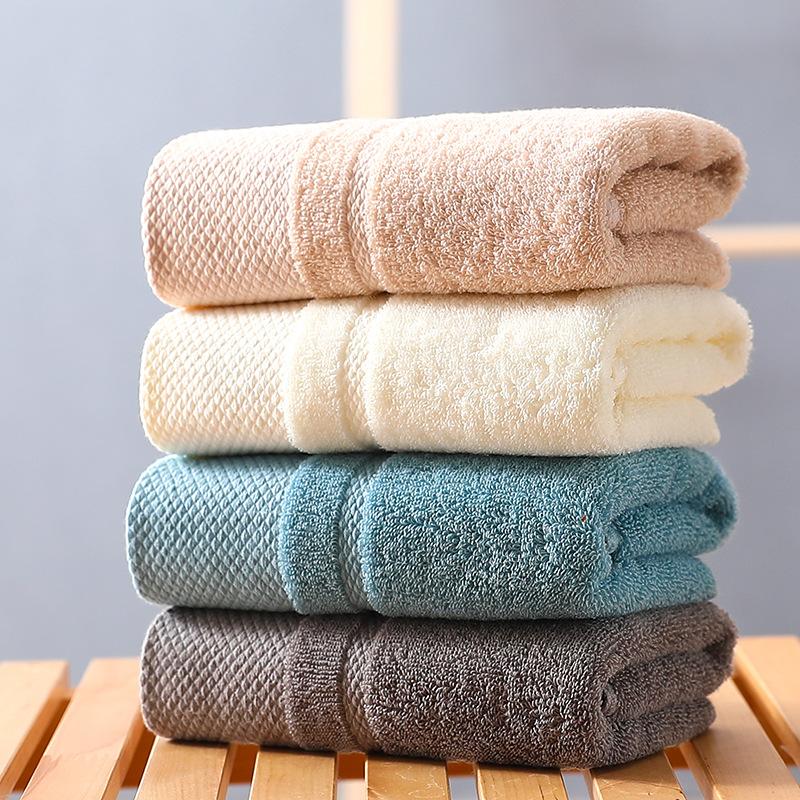 Khăn lông Túi kẹp tóc cotton 40 sợi chải mặt khăn bông hàng ngày cần thiết hàng ngày cắt ngang khách
