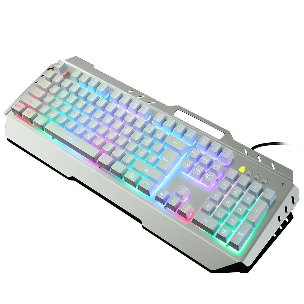 Bàn phím Shenya SY021 Bàn phím được chiếu sáng Robot Cảm thấy có dây War Wolf Kim loại đầy màu sắc B