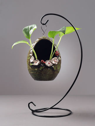 Đồ trang trí bằng gốm sứ  Sáng tạo treo thủy sinh chậu hoa cắm