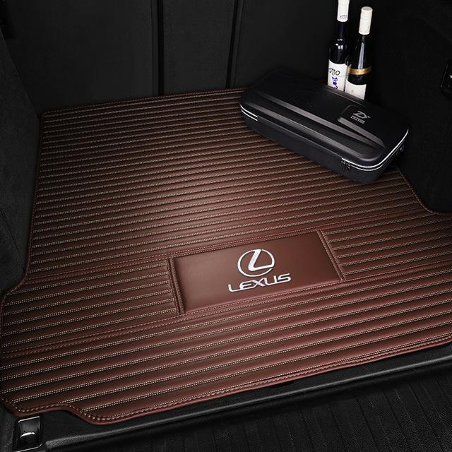 Thảm Đệm lót bảo vệ phía sau chỗ lưu trữ của xe hơi với sọc logo phía sau