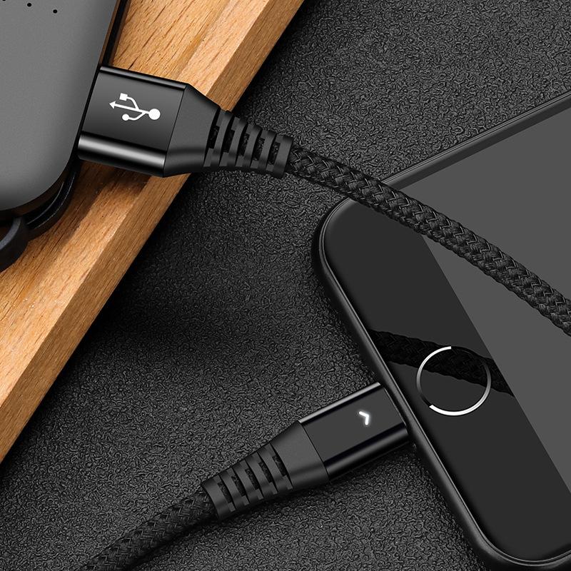XUNJI Dây USB Thích hợp cho cáp dữ liệu điện thoại Apple Cáp dữ liệu Android loại c c nhà máy Thâm Q