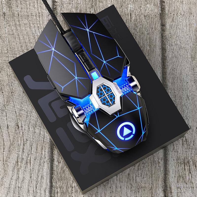 Chuột vi tính Silver Eagle Ghost Gaming Gaming Chuột cơ Có dây Im lặng Ăn gà Trò chơi USB Bên ngoài