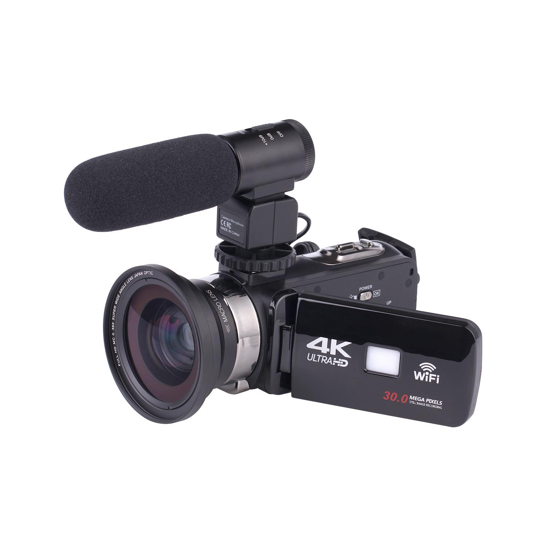 Máy ảnh kỹ thuật số Camera kỹ thuật số 4K Camera quan sát ban đêm Camera kỹ thuật số Wi-Fi HD Camera