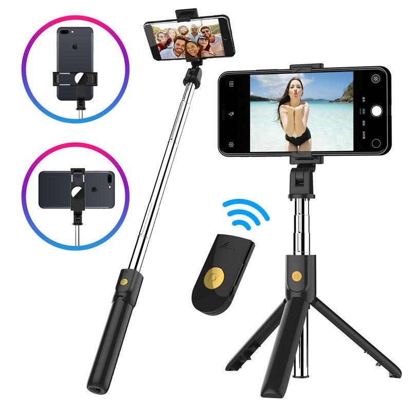 DESNAI Gây tự sướng k10 / k07 Bluetooth selfie stick chân máy điện thoại di động điều khiển từ xa kh