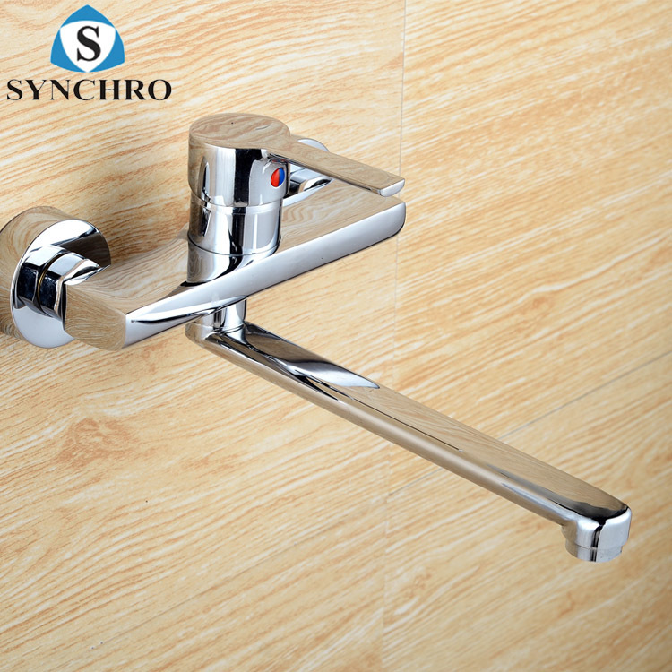 SYNCHRO Vòi nước Vòi bếp gắn tường hỗn hợp vòi nước nóng và lạnh