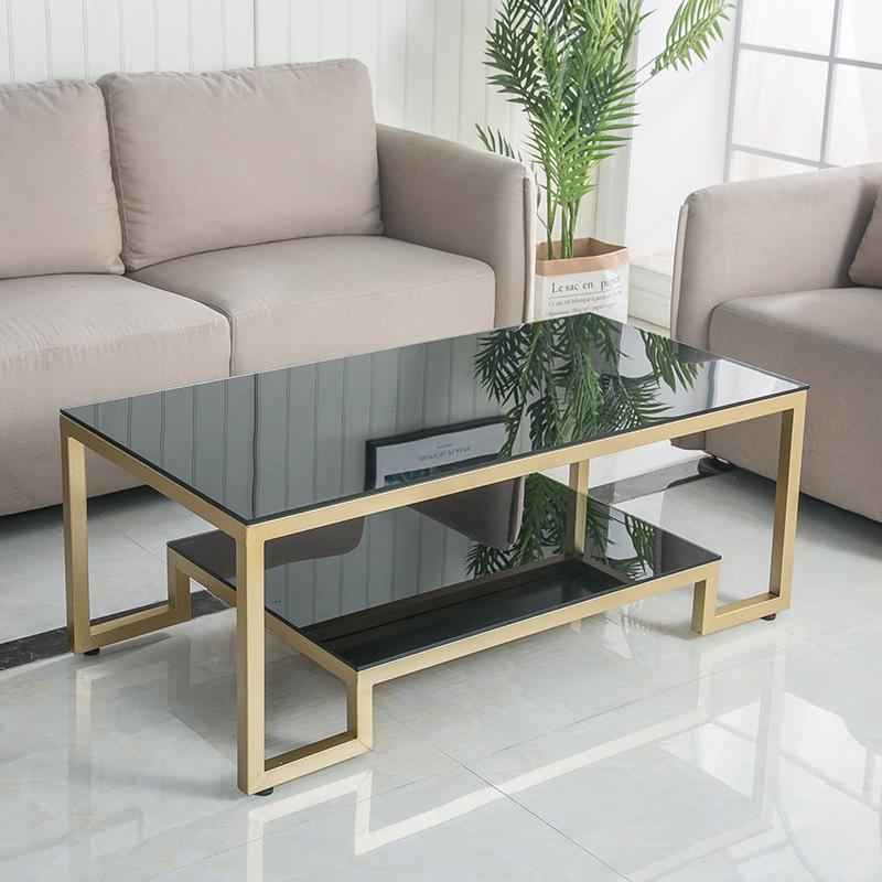 JIAMAO Bàn cà phê phòng khách đơn giản căn hộ nhỏ Bắc Âu kính cường lực nhỏ bàn cà phê hiện đại đơn