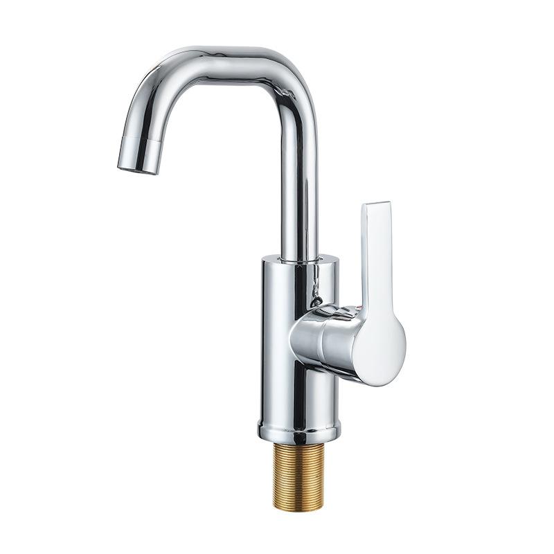 Lilai Vòi nước đơn vòi nước nóng và lạnh vòi hợp kim kẽm vòi phòng tắm lưu vực vòi chậu inox vòi