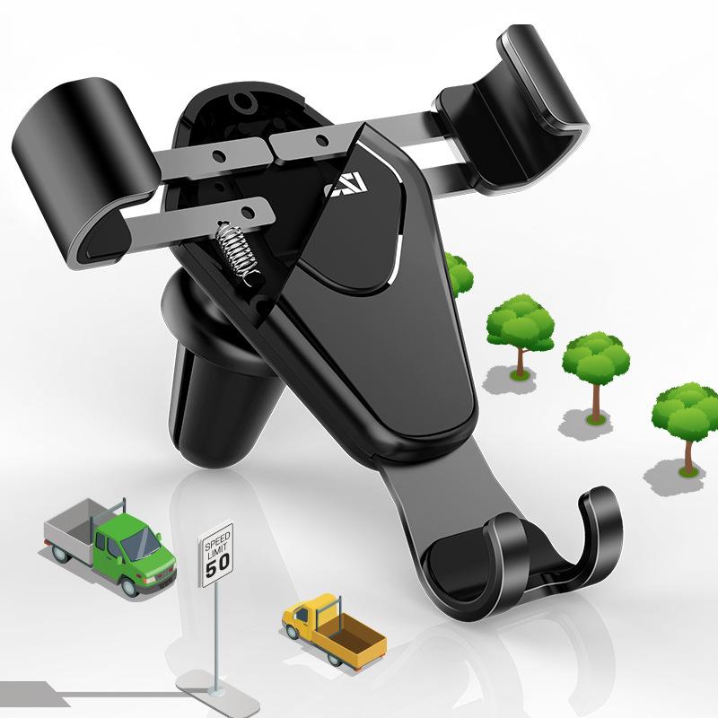 AIKESI phụ kiện chống lưng điện thoại Khung xe trọng lực kim loại đầy đủ Xe hơi Air Clip Clip Điện t