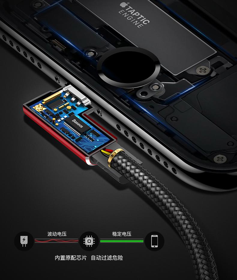 Dây USB Máy tính của Beisi Apple đường dóng Iphone 11. Nạp nhanh điện iPhone 7 nạp điện thoại 6S, th