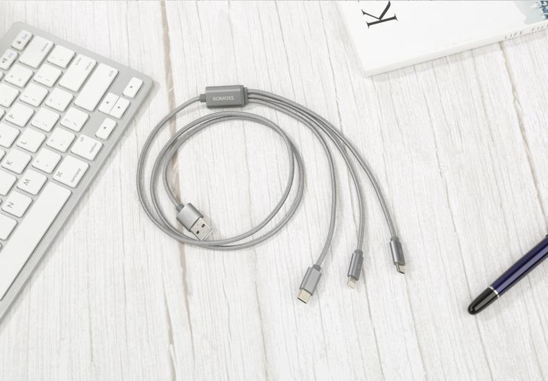 Dây USB Ba của Rome trong một dòng dữ liệu iPhone 6S Apple 7 di động điện thoại x Huachi-C trong một