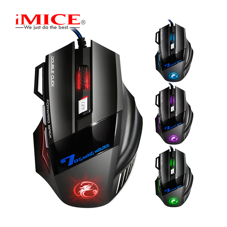 IMICE Chuột vi tính X7 Nhà máy Chuột chơi game 7 phím xuyên biên giới trực tiếp RGB đầy màu sắc Hơi