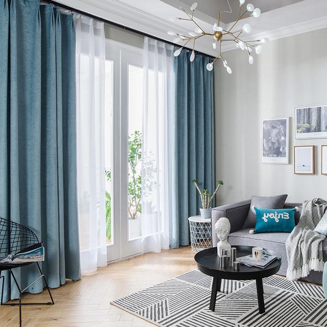 rèm cửa sổ Túi tóc giúp màu mới chenille rèm cửa hai mặt màu sắc đa lựa chọn bán buôn đặc biệt cho p