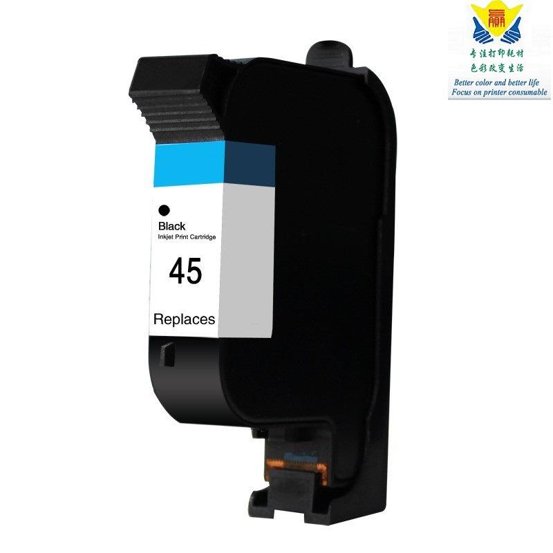 JIANYINGCHEN Hộp mực nước Hộp mực HP45 tương thích cho hộp mực máy in Deskjet 820 820C 820Cse712c 72