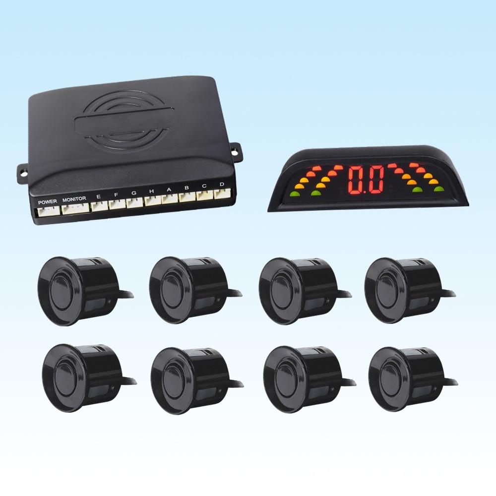 XINDA Radar cảm biến lùi xe Nhà máy Giá trực tiếp Chất lượng cao LED cảm biến đỗ xe Tám Probes