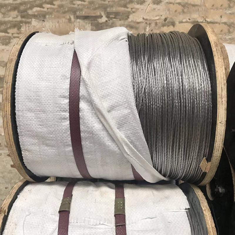 HANYI Dây cáp 1.0 sợi thép 1.0 * 7 sợi thép mạ kẽm nhúng nóng Đường kính dây thép mạ kẽm 3.0mm