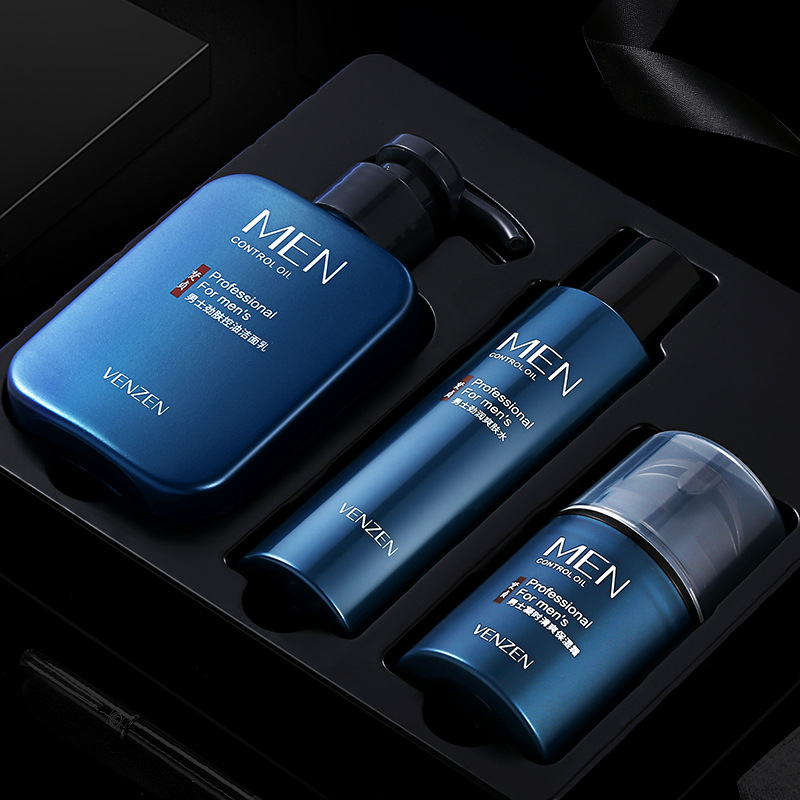 Fan Zhen Phái nam Men Skin Skin Làm mới Ba-Cleanser Sữa rửa mặt Giữ ẩm Giữ ẩm cho da