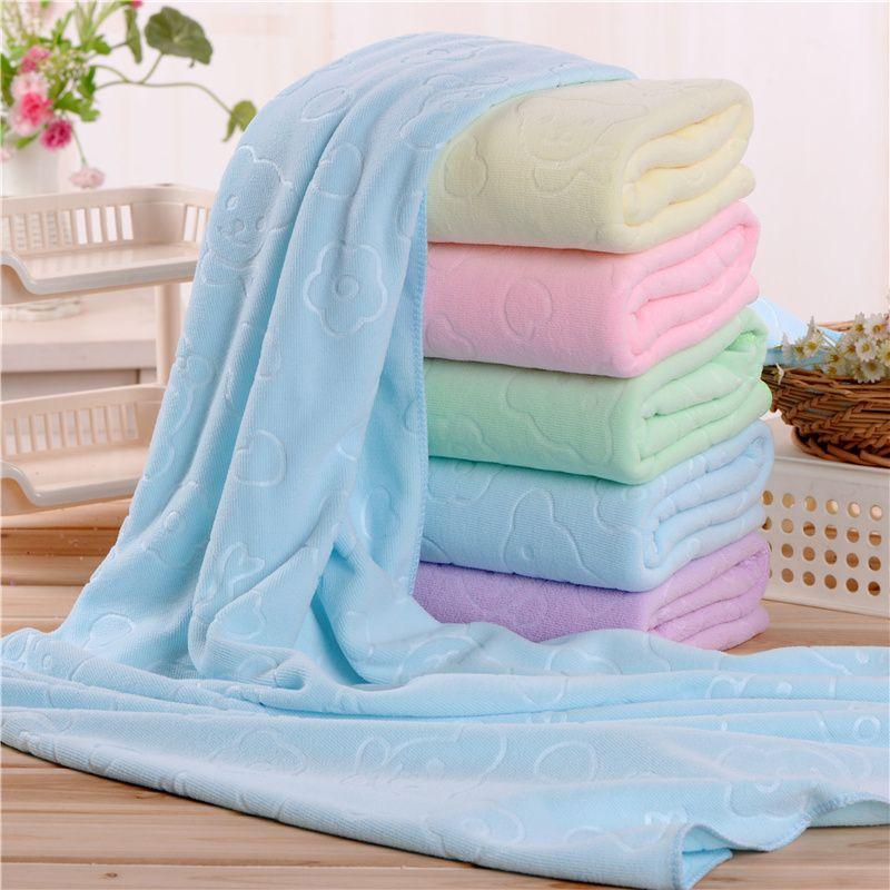 YISHUANG Khăn tắm Quà tặng khăn tắm lông cừu đắp nổi khăn tắm 150 g 70 * 140 trẻ em đặc biệt khăn tắ