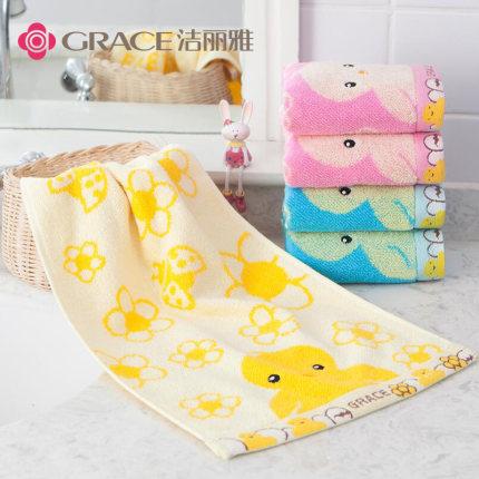 grace  Khăn lông  Jie Liya nguyên chất cotton nhỏ khăn bông trẻ em rửa mặt hộ gia đình mềm mại thấm